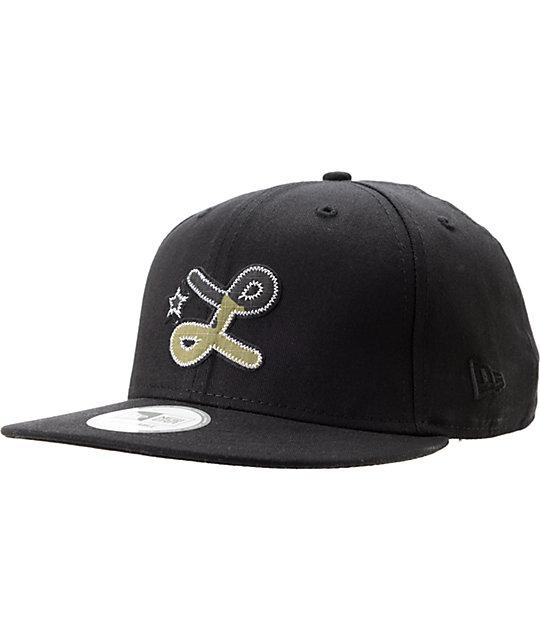 LRG Camo L Black Snapback Hat