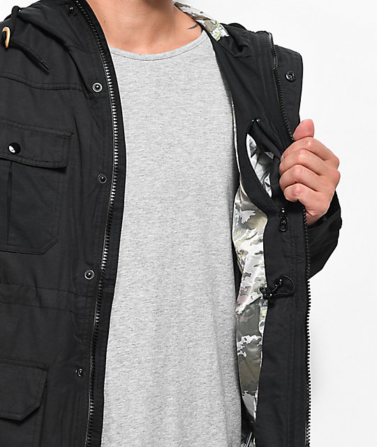 LRG Camp Black Parka Jacket