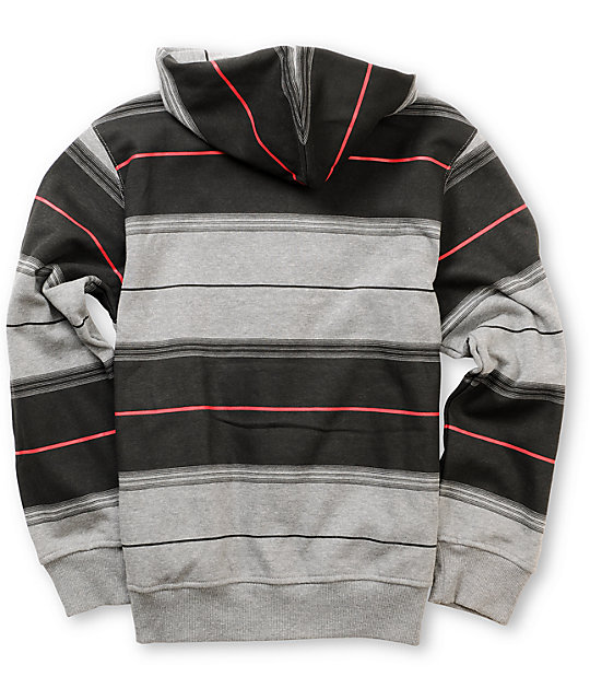 LRG Chavez Boys Grey Striped Hoodie