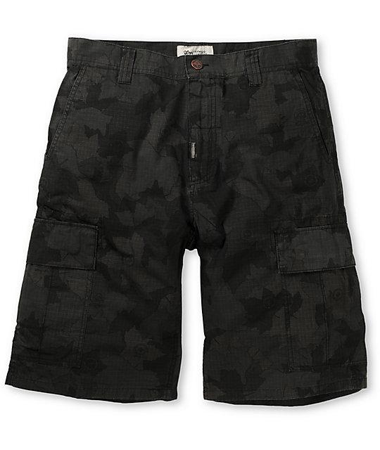 LRG Core Black Ripstop Camo Cargo Shorts