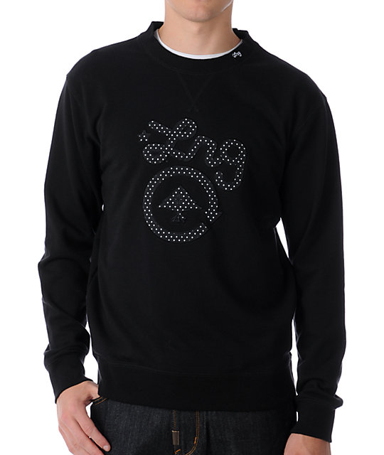 LRG Core Collection Black Crew Neck Sweatshirt