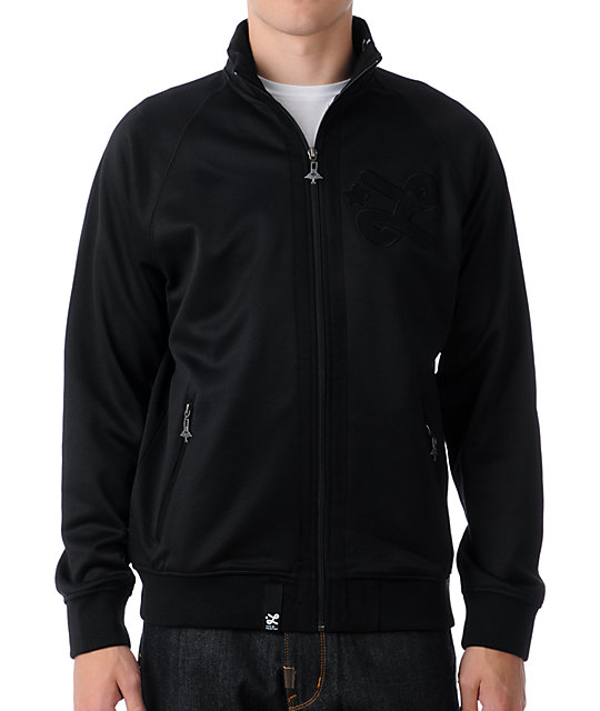 LRG Core Collection Black Track Jacket