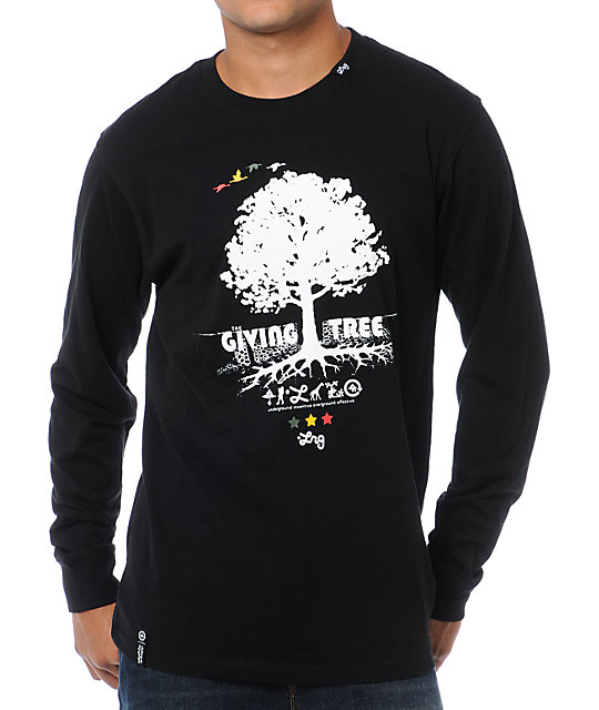 LRG Core Collection Nine Black Long Sleeve Shirt