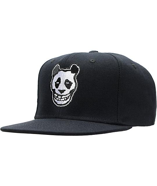LRG Crimson Panda Black Snapback Hat