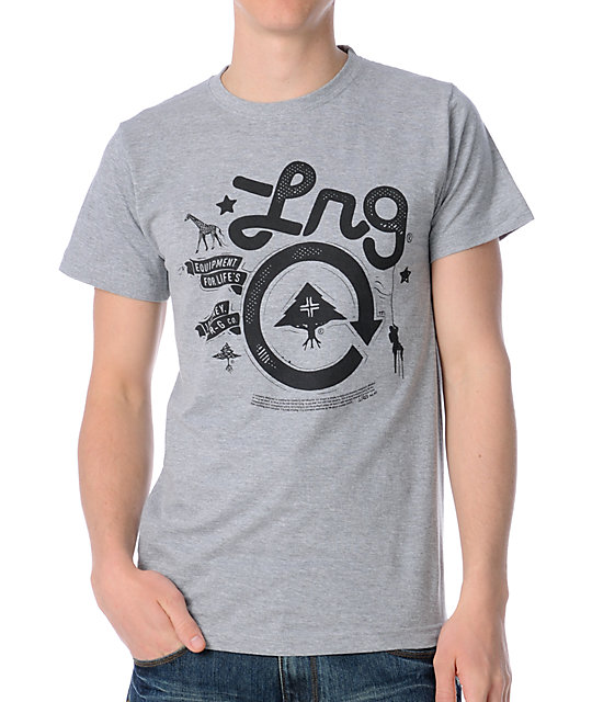 LRG Cycle Journey Grey T-Shirt