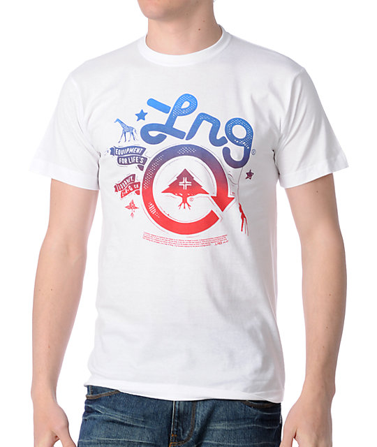 LRG Cycle Journey White T-Shirt