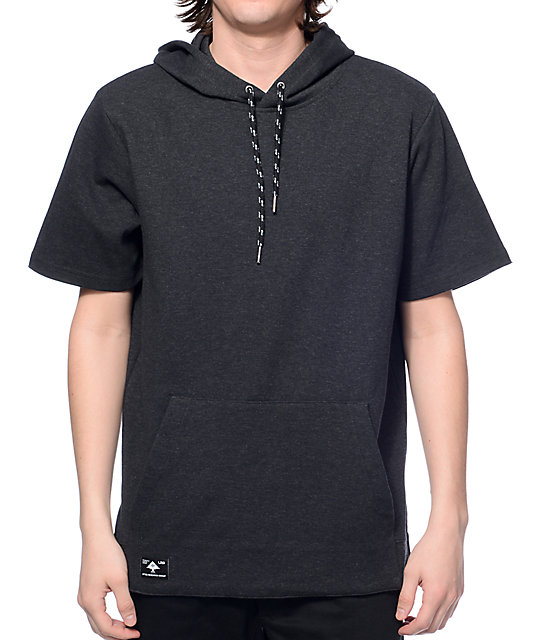LRG Dumont Heather Black Short Sleeve Hoodie