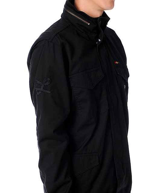LRG Eastman M-65 Black Rasta Jacket