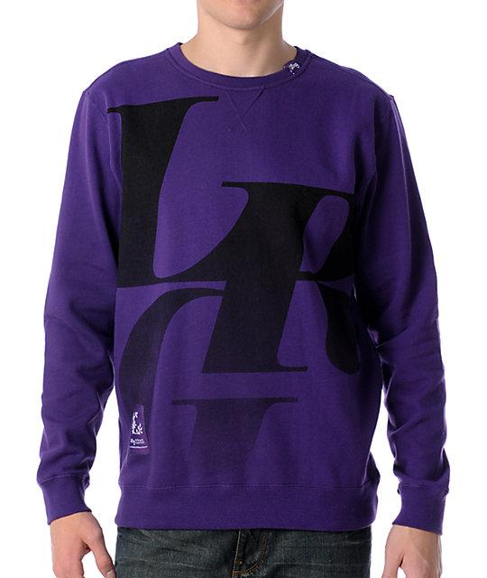 LRG Elite Fleet Purple Crew Neck Sweatshirt
