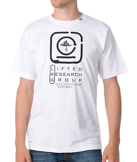LRG Encryption White T-Shirt