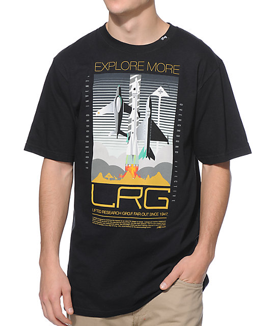 LRG Explore More Black T-Shirt