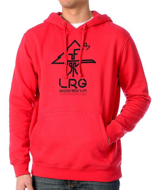 LRG Explore Pullover Red Hoodie