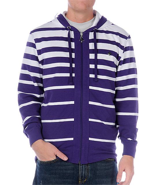 LRG Fade To Black Purple Hoodie