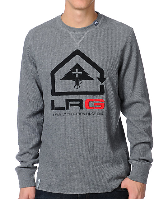 LRG Family Operation Grey Long Sleeve Thermal Shirt