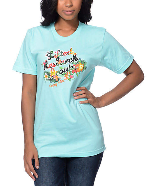 Lrg Fantasy Aqua Boyfriend Fit T Shirt At Zumiez Pdp