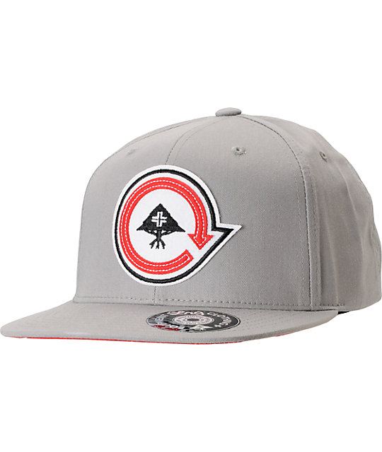 LRG Felted Ash Grey Snapback Hat