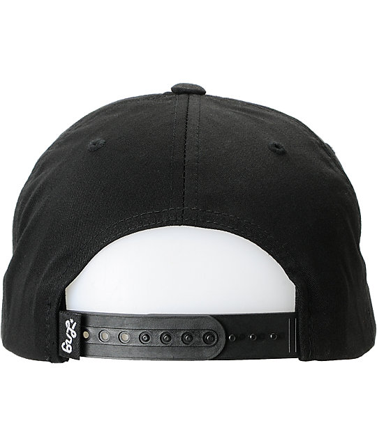 LRG Felted Black Snapback Hat