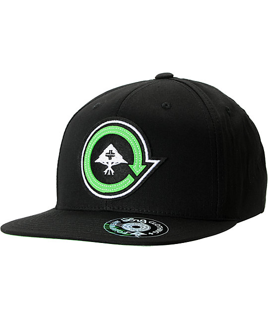 LRG Felted Black Snapback Hat