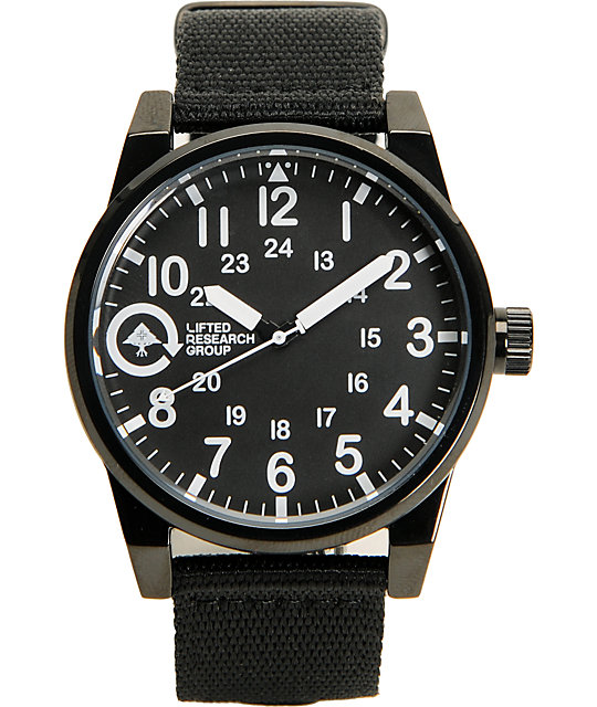 LRG Field And Research Black Analog Watch