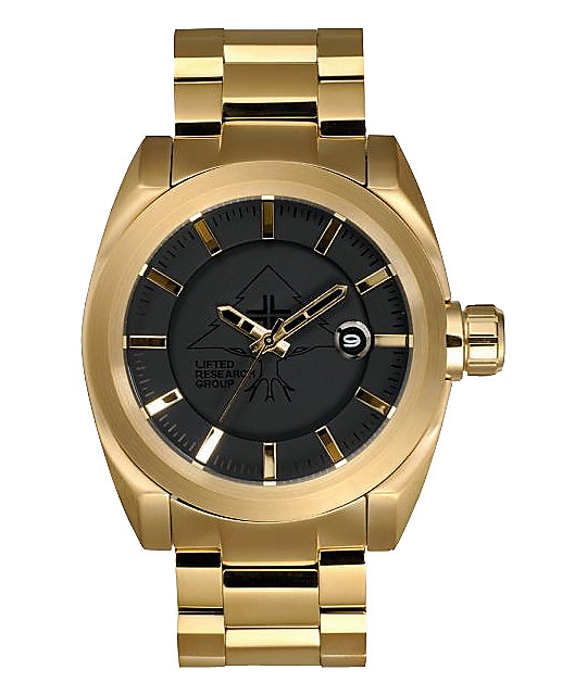 LRG Force Gold & Black Analog Watch