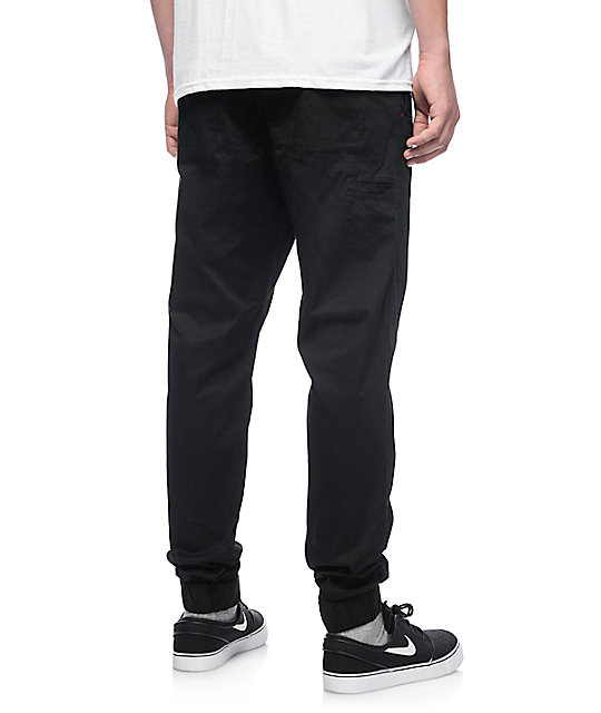 LRG Game Changer Black Twill Jogger Pants