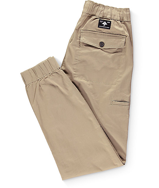 LRG Game Changer British Khaki Twill Jogger Pants