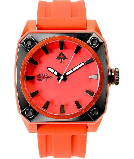 LRG Gauge Red Analog Watch