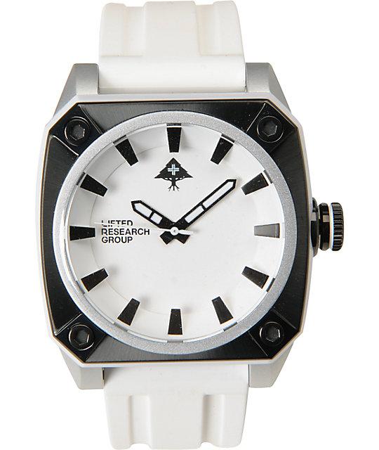 LRG Gauge Silver, White & Black Analog Watch