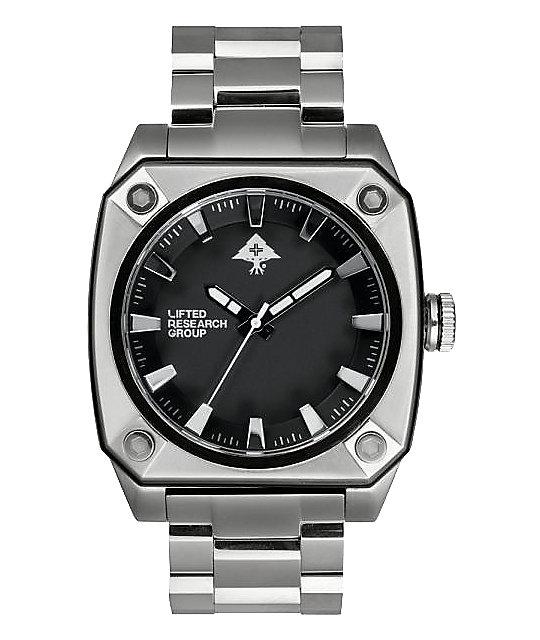LRG Gauge Silver & Black Analog Watch