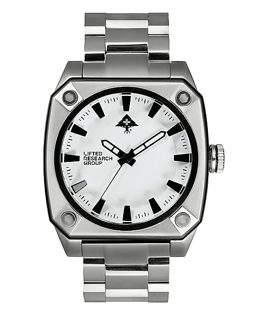 LRG Gauge Silver & White Analog Watch