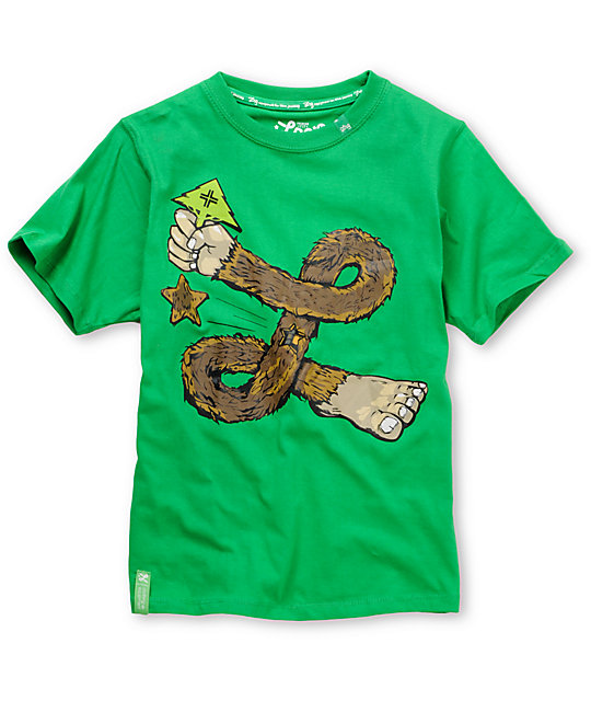 LRG Get On The Good Foot Green Boys T-Shirt