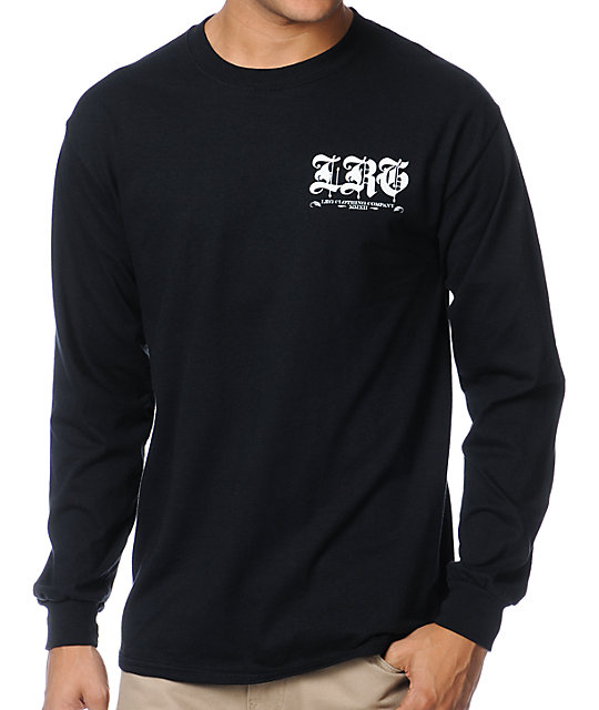 LRG Gold Standard Black Long Sleeve Shirt
