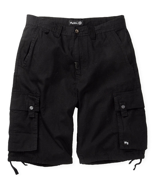 LRG Grass Roots 2 Black Cargo Shorts