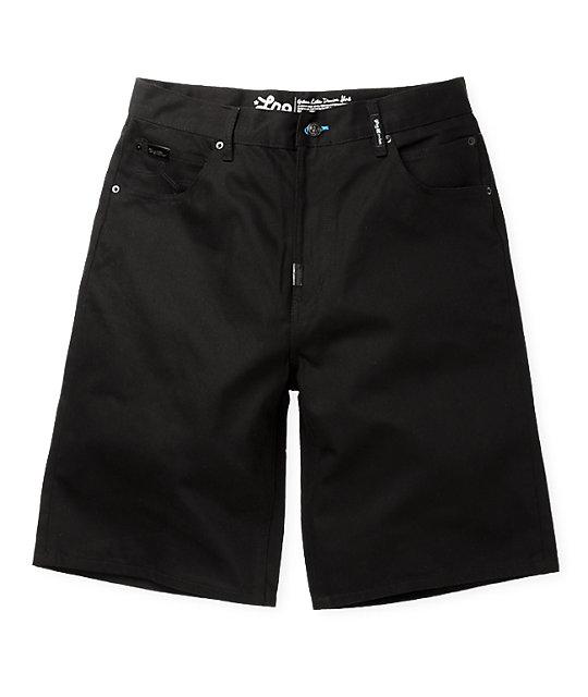 LRG Grass Roots Black Denim Shorts