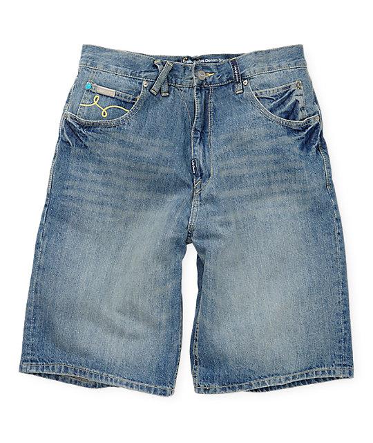 LRG Grass Roots Blue Denim Shorts