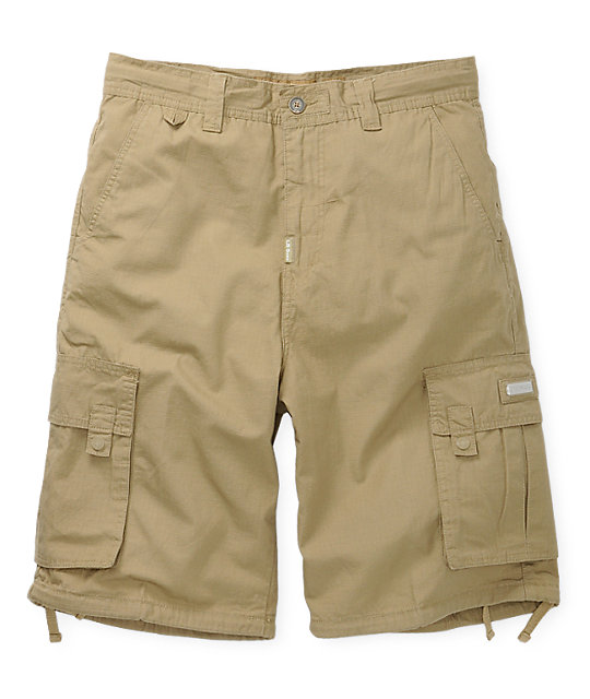 LRG Grass Roots Khaki Cargo Shorts