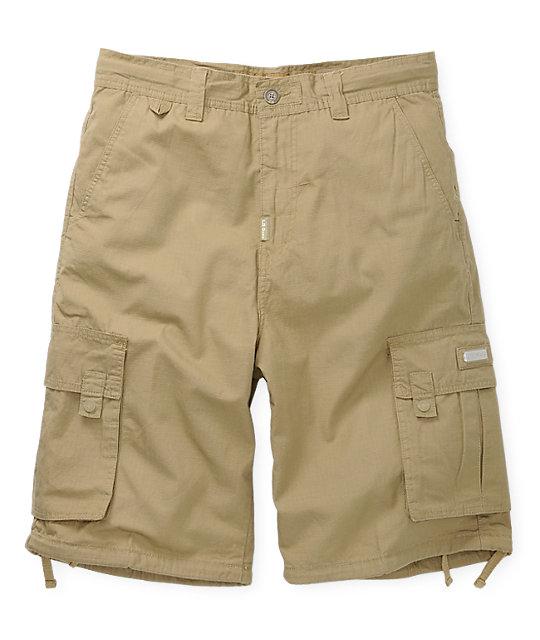 LRG Grass Roots Khaki Cargo Shorts