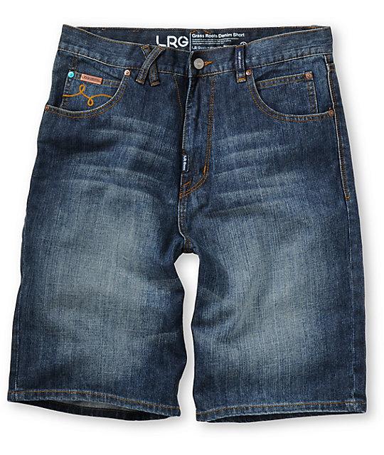 LRG Grass Roots Medium Indigo Denim Shorts
