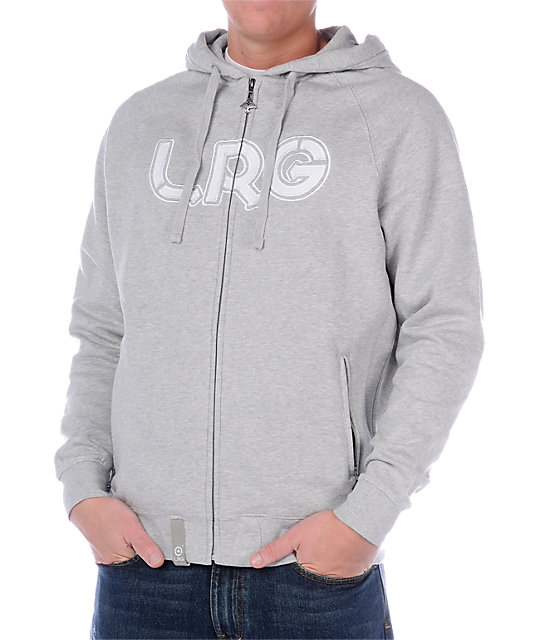 LRG Grass Roots One Grey Hoodie