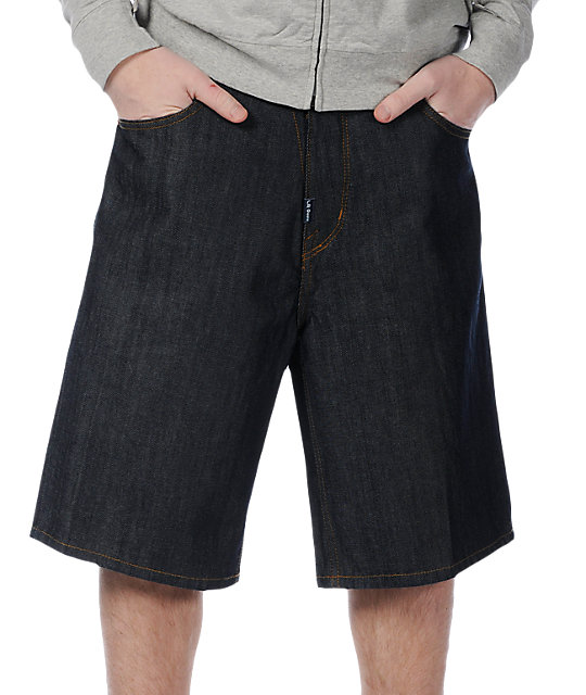 LRG Grass Roots Raw Denim Shorts