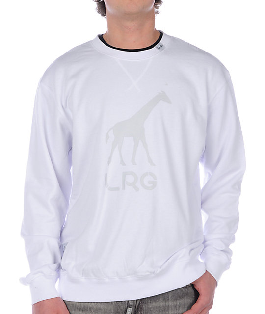 LRG Grass Roots White Crew Neck Sweatshirt