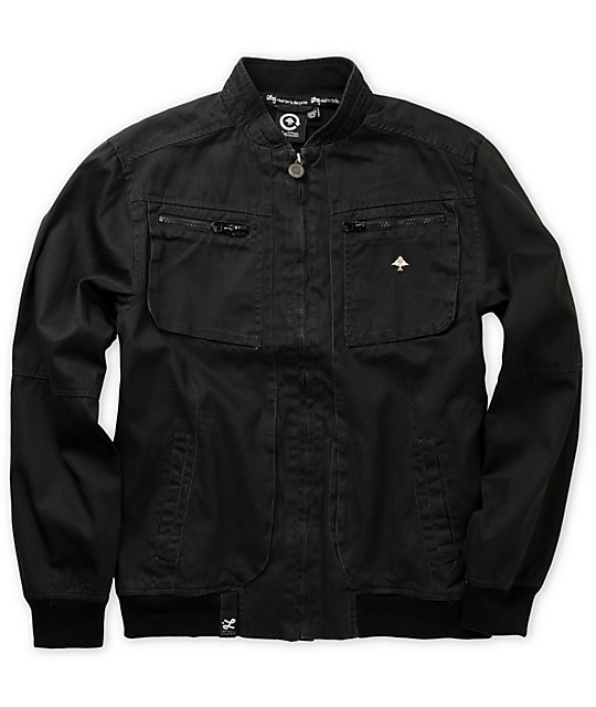 LRG Hard Proof Boys Black Canvas Jacket