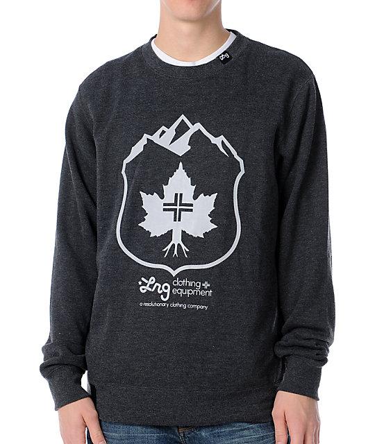 LRG Hinter Lodge Charcoal Crew Neck Sweatshirt