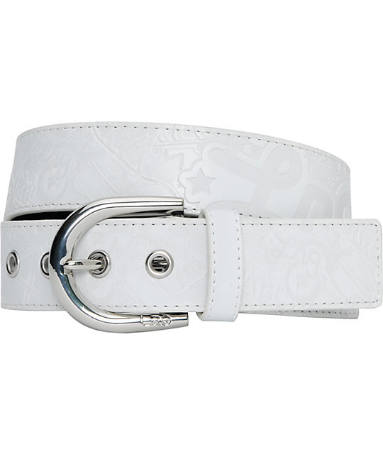 LRG Hitched Mens White Belt