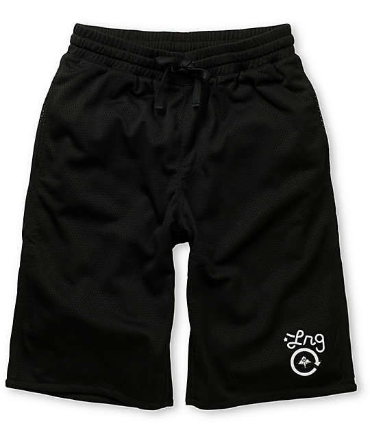 LRG Hoops Black Mesh Shorts