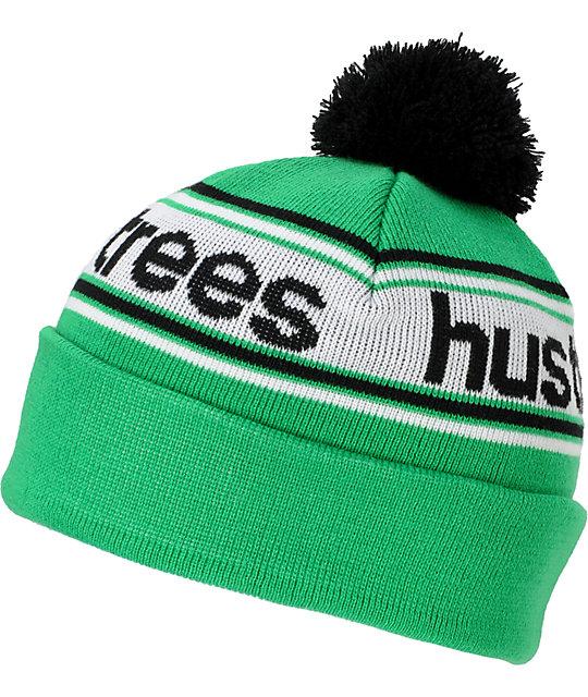 LRG Hustle Green Pom Beanie