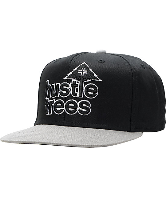 LRG Hustle Trees Black & Grey Snapback Hat