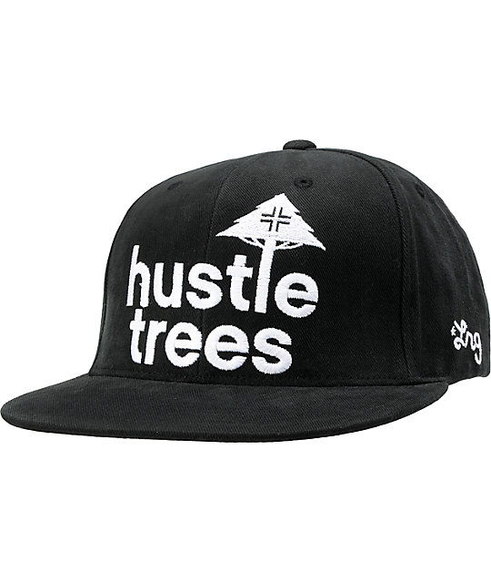 LRG Hustle Trees Black Corduroy Snapback Hat