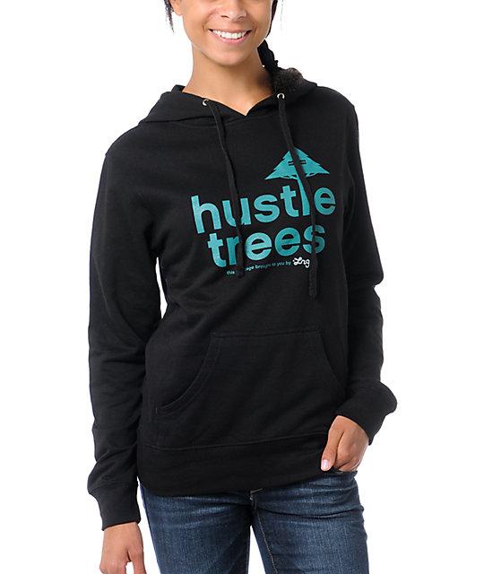 LRG Hustle Trees Black Pullover Hoodie