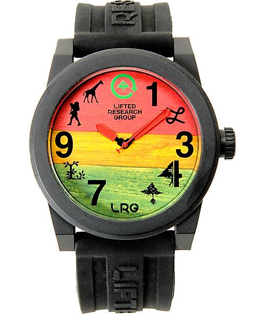 LRG Icon Black & Rasta Analog Watch